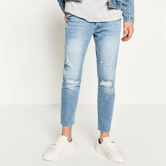 df3cc1df Zara Man | Skinny Distressed Jeans. M_5accf9fc8df470a9073f61de